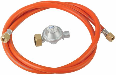 LPG Euro High Pressure Gas Regulator with Hose (H30G02B1.5)