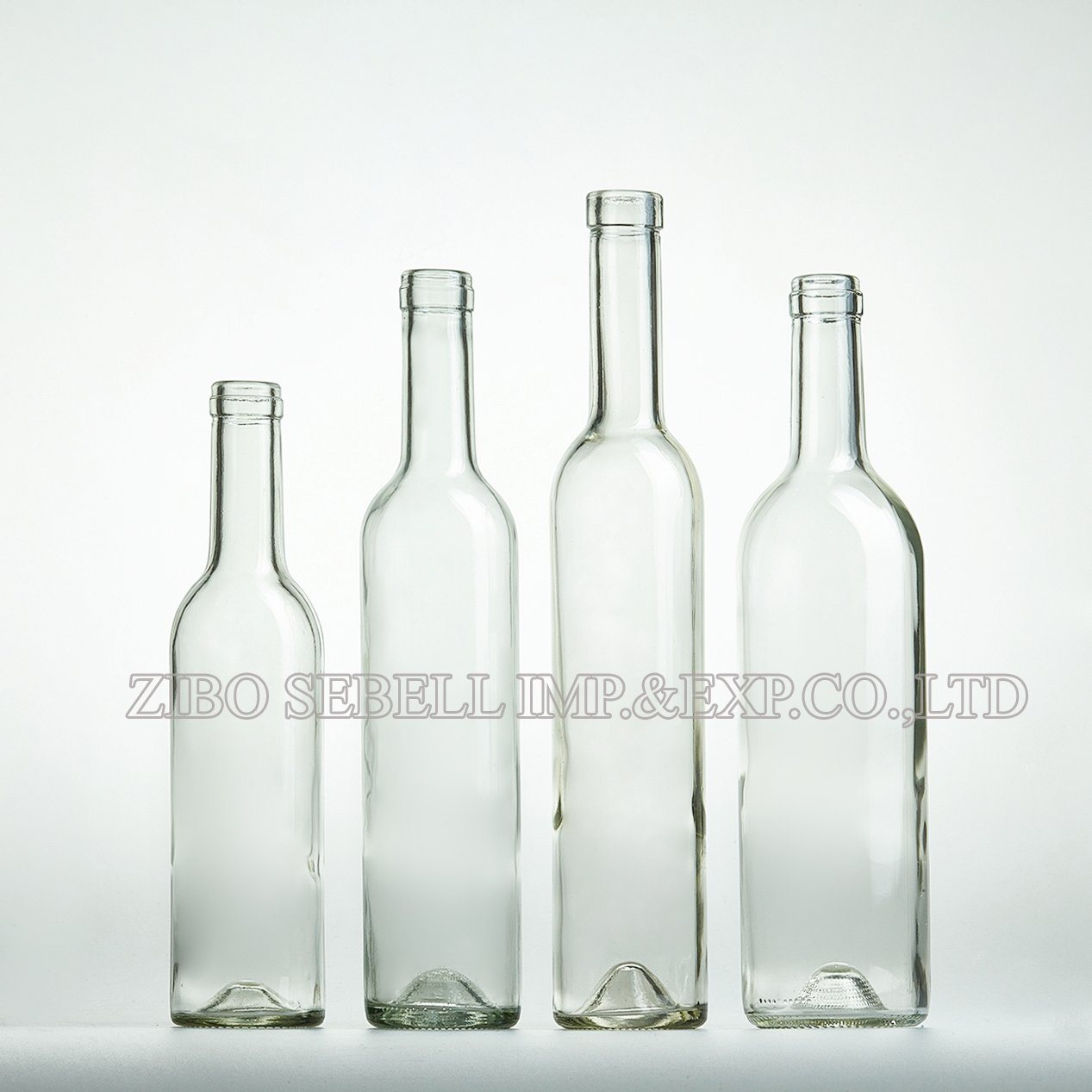 Clear /Transparent /Flint Bordeaux Glass Wine Bottle 750ml, 375ml