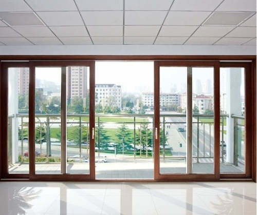 China sliding patio doors china sliding doors pure wood for Full glass patio door