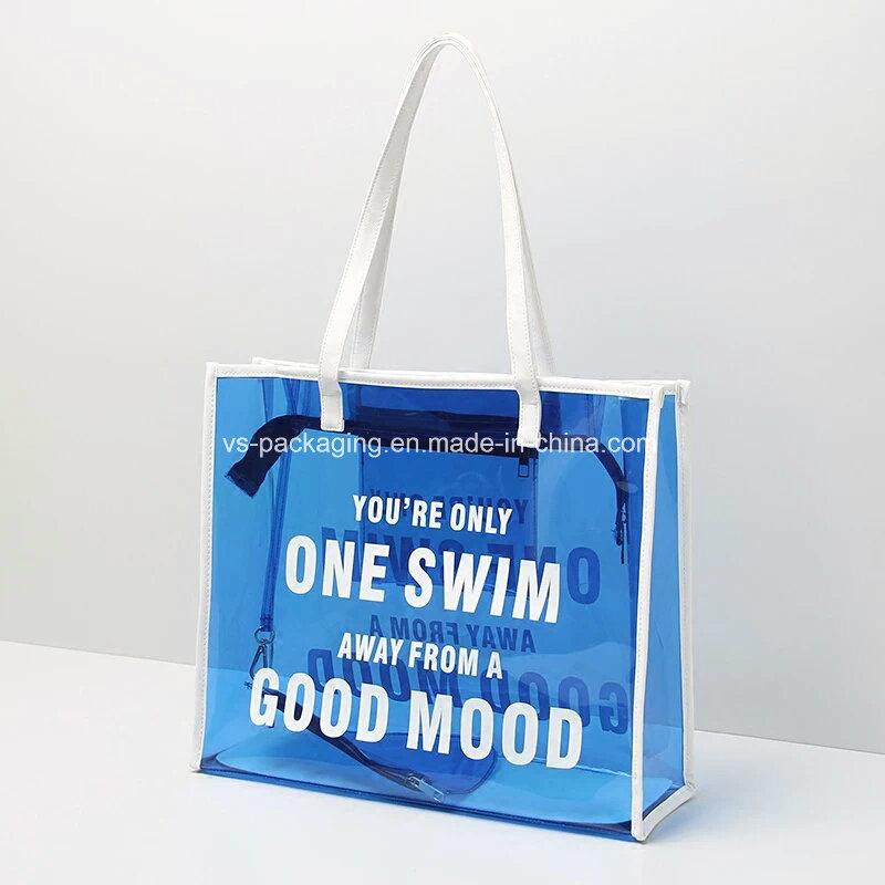 Colorful Fashion Transparent Beach Bag