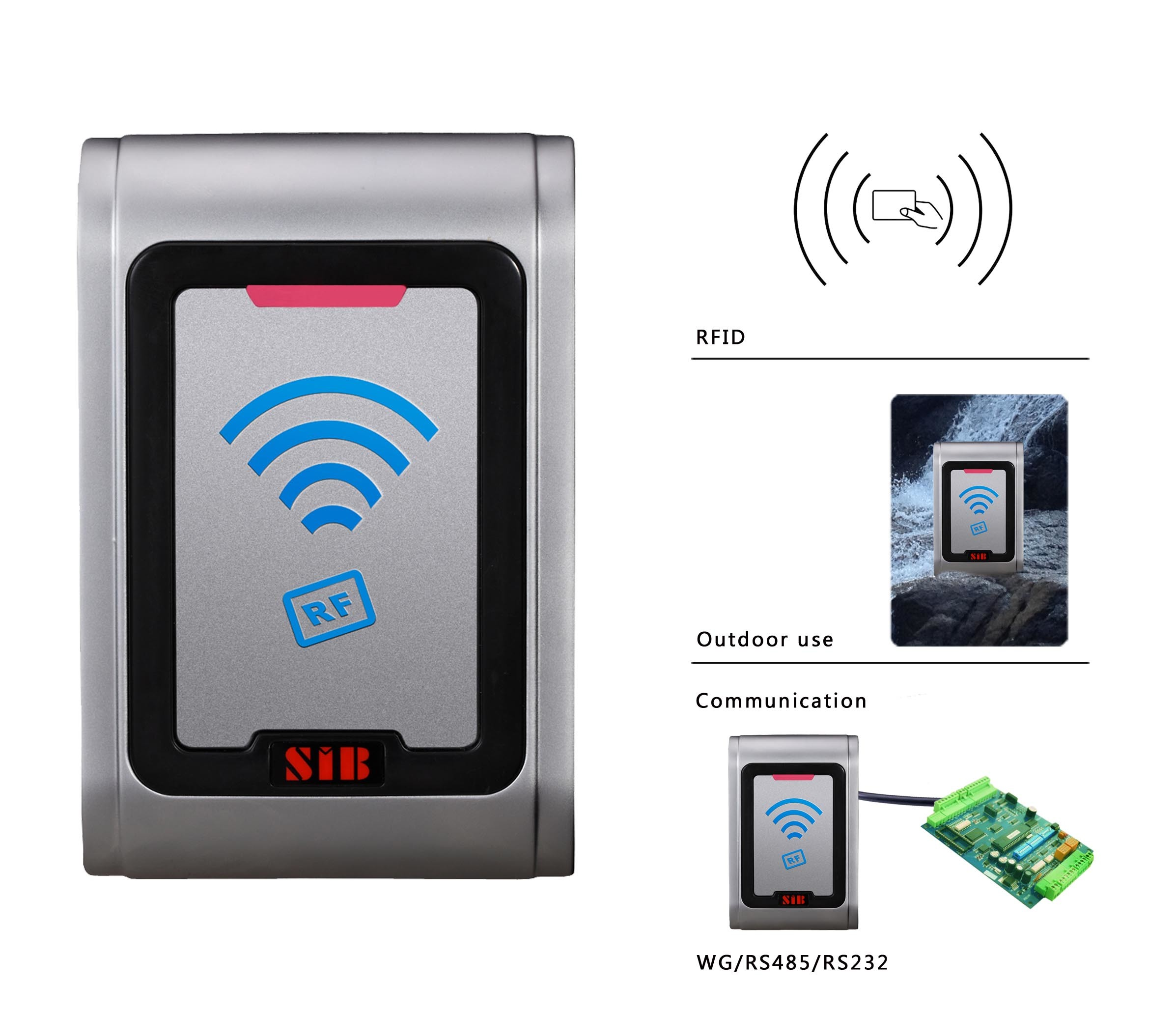 Metal Access Control RFID/Proximity Card Reader RF006em