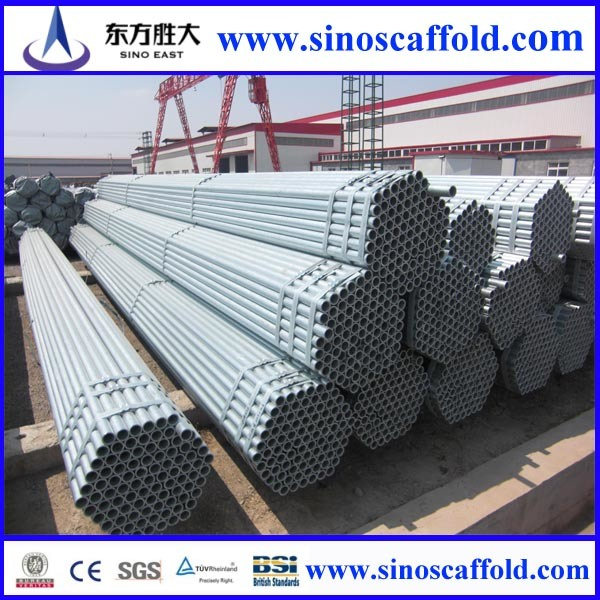 Galvanized Iron Scaffolding Pipes Specifications (48.3--48.6mm)