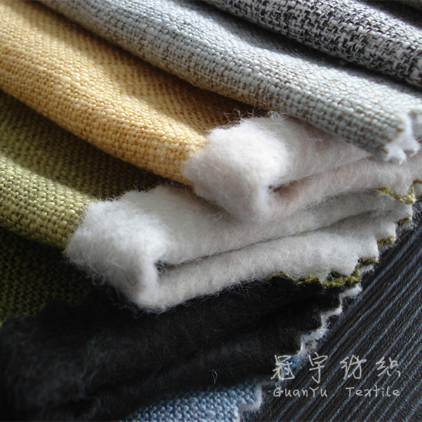 Polyester Linen Woven Decorative Fabric for Sofa