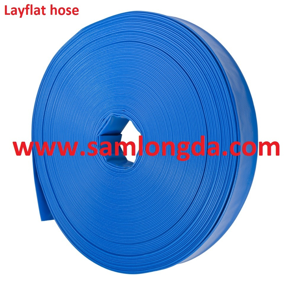 "3/4""-16"" Agriculture PVC Layflat Hose for Irrigation & Water"