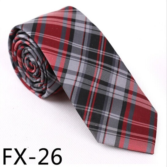 New Design Fashionable Silk/Polyester Check Necktie Fx-26