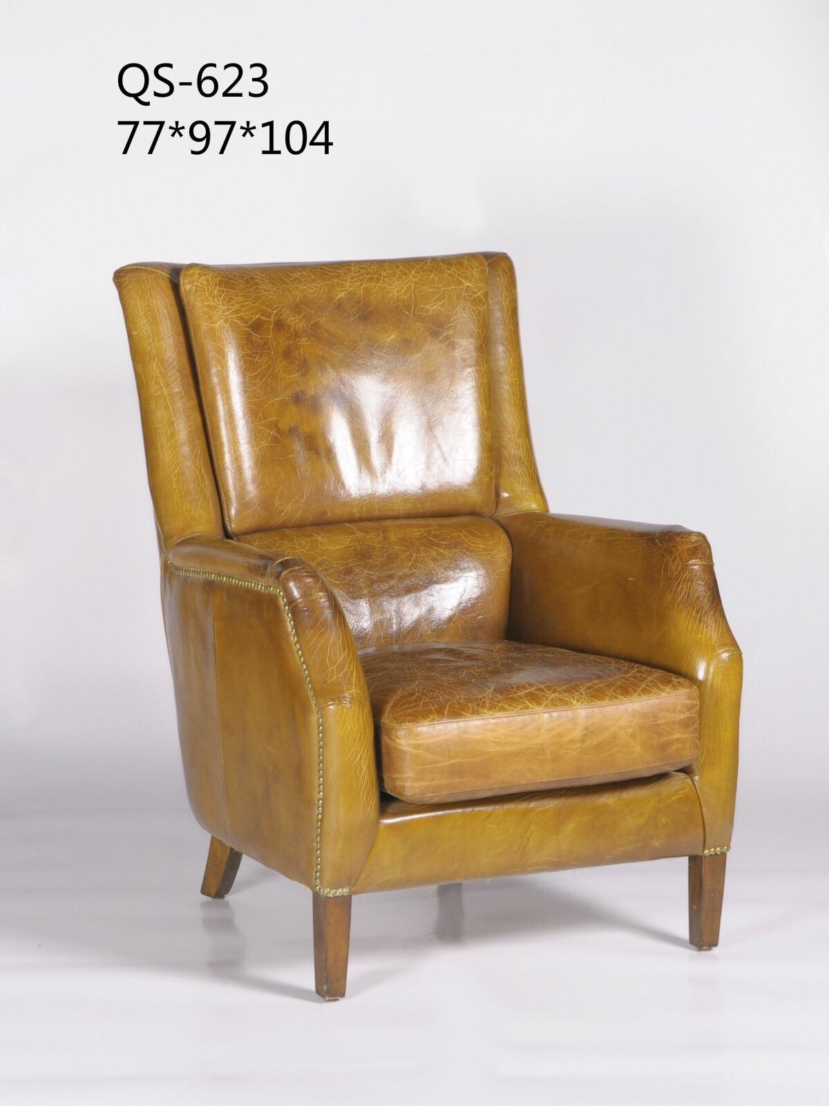 China Italian Leather Modern Sofa Chair for Lobby 623 China