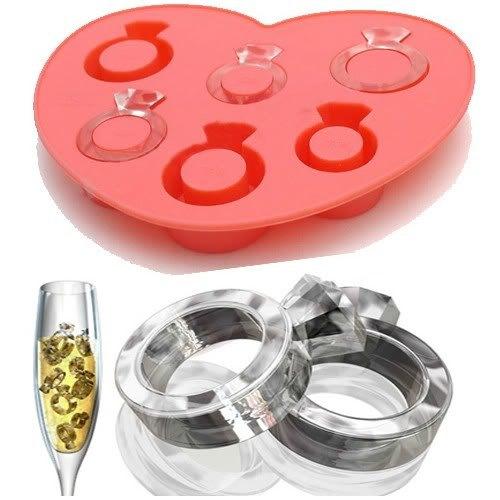 FDA Grade Creative Finger Love Ring Silicone Ice Cube Tray