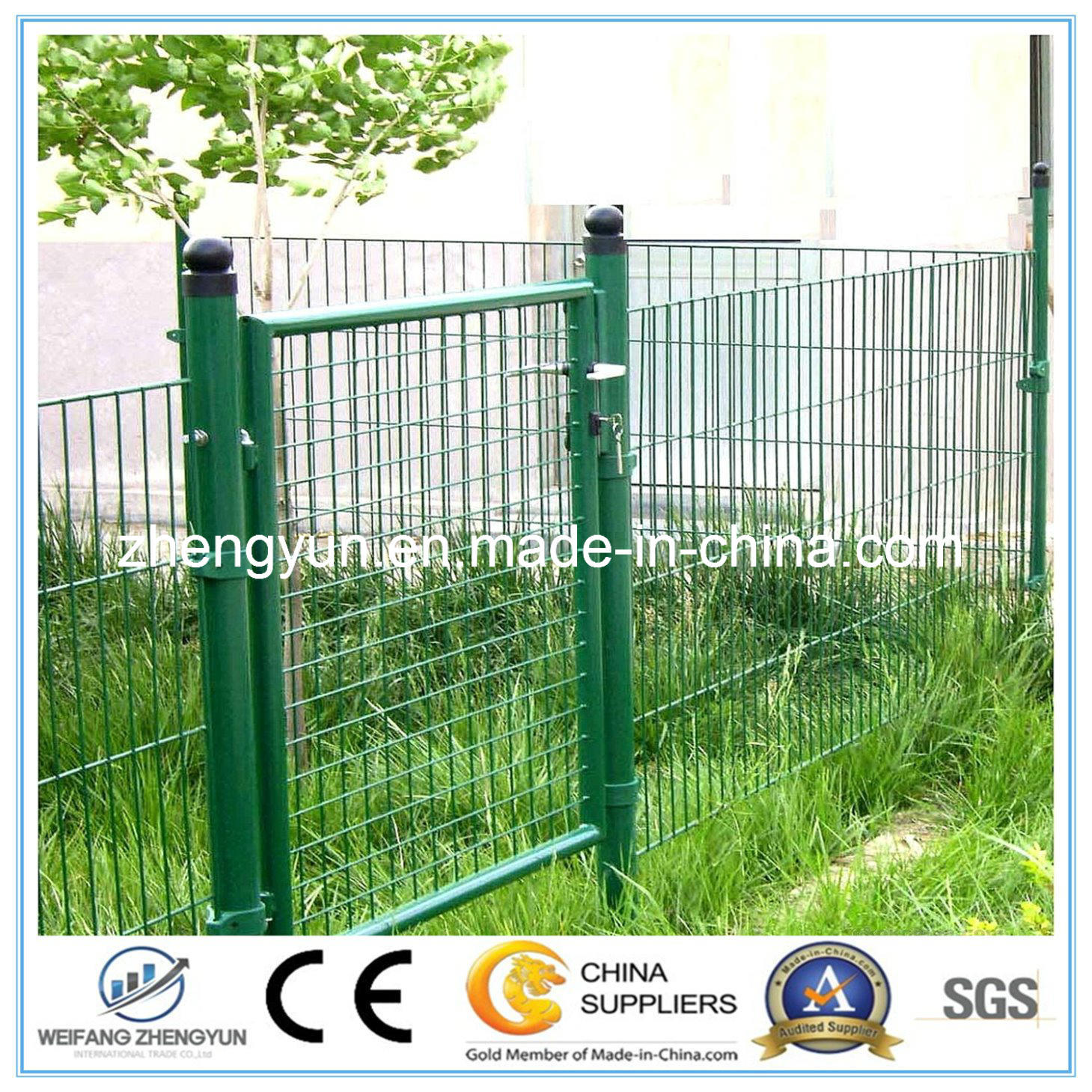 The PVC Coated Chain Link Wire Mesh Fence Gate