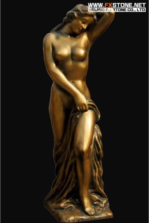 Classical Figure Lady Bronze Sculpture