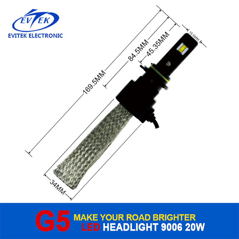 LED Lighting Bulb 20W 2600lm 9006 LED Auto Headlight, LED Headlight Bulbs