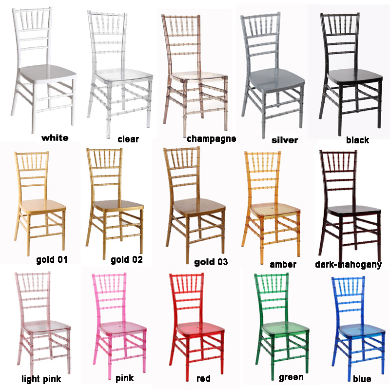 Clear Wedding Phoenix Napoleon Sillas Chiavari Chairs