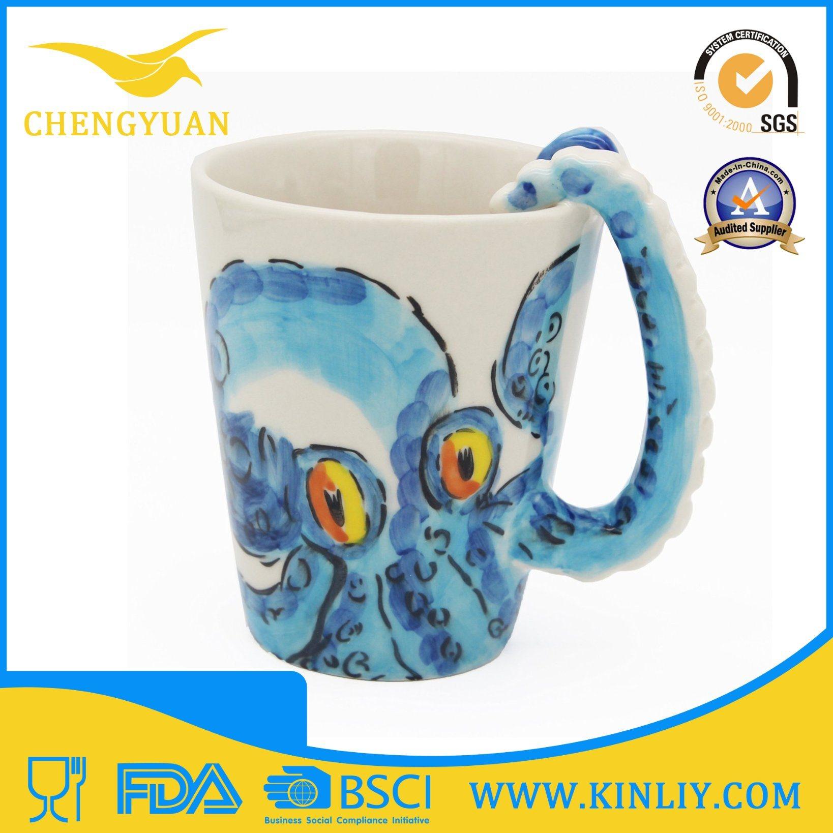 3D Animal Ceramic Tea Cup Funny Coffee Mug for Gift