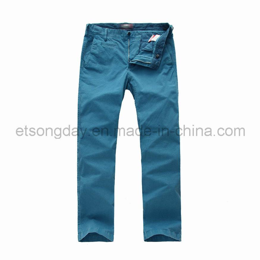 Light Blue Cotton Spandex Men′s Trousers (JGY-1303)