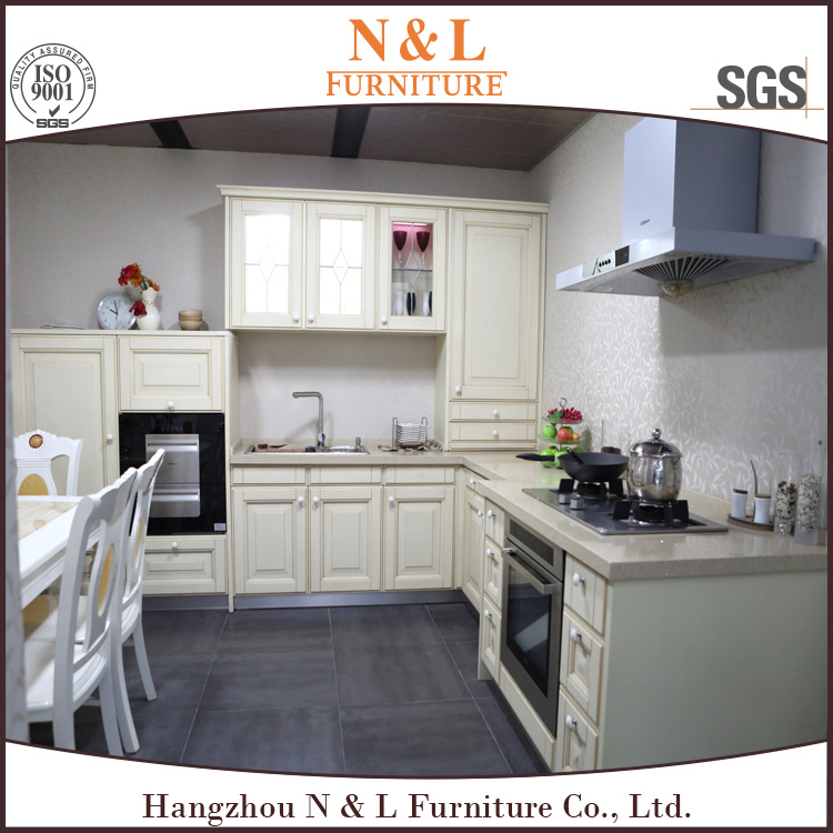 N&L High Quality Antique MDF PVC Kitchen Cabinet