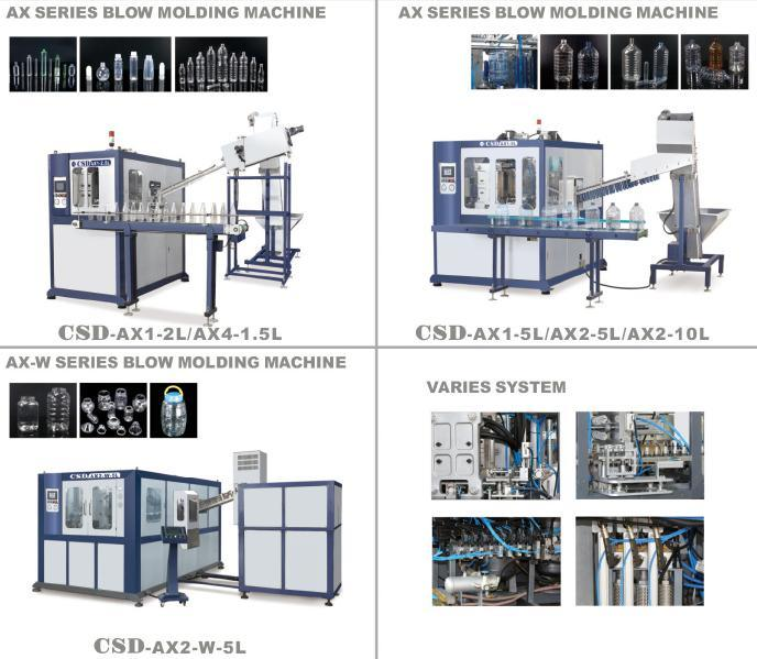 CE Approved with Ax Down Blow Series Automatic Blow Molding Machine (CSD-AX1-2.5L)