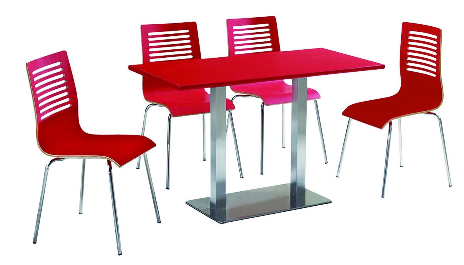 4 Seats Dining Table and Chair for Fast Food