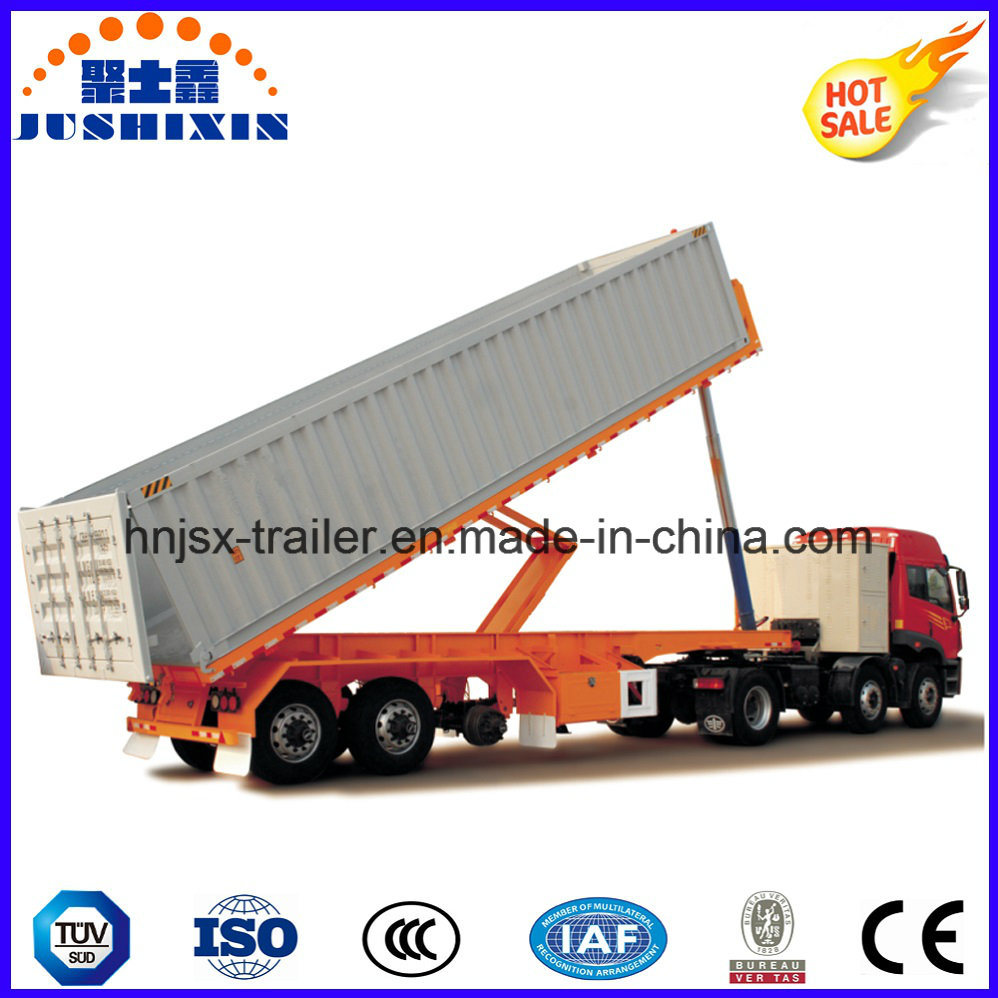 2 Axle Rear Type 50tons Dump Truck / Tipper Semi Trailer for Sale