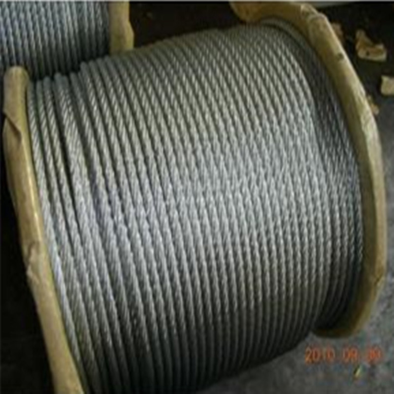 7X19 Ungalvanized/Galvanized/Stainless Steel Wire Rope