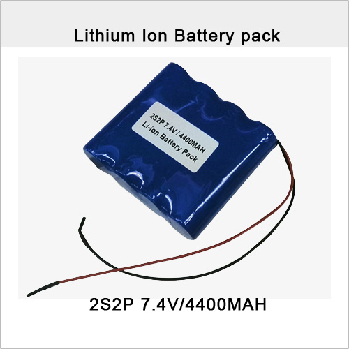 7.4V 4.4ah with PCM Rechargeable Li-ion Battery Pack