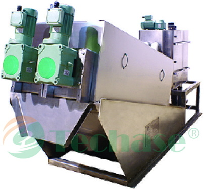 Pulp & Paper Wastes Dewatering Equipment: Techase Multi-Plate Screw Press