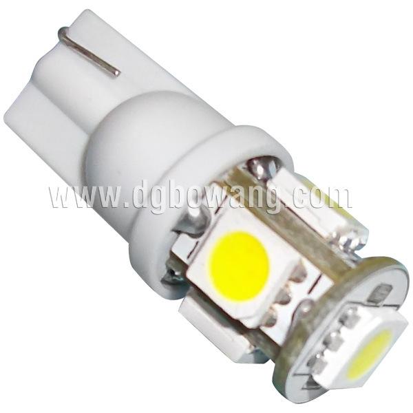 5PCS SMD5050 T10 Auto LED Bulb (T10-WG-005Z5050)