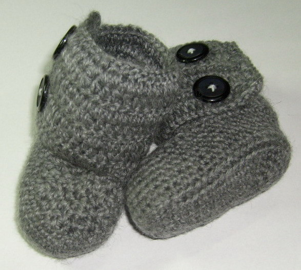 Crochet Baby Booties Pattern With Pictures : Crochet Baby Booties Free Patterns Patterns Gallery