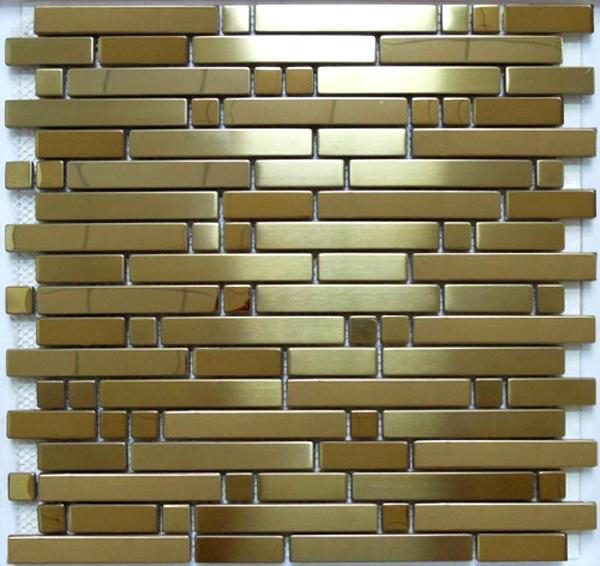 Strip Stainless Steel Metal Mosaic Tile (SM214)