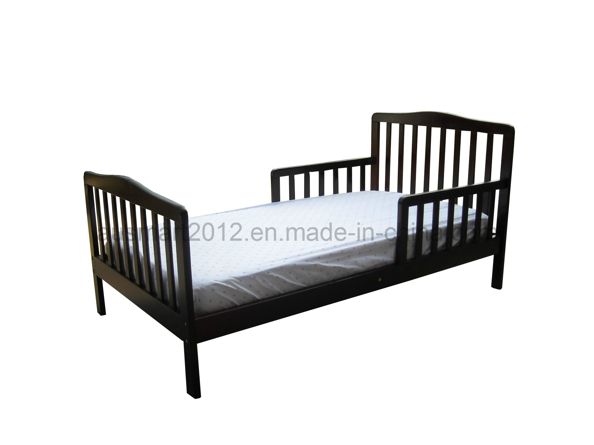 China Children Wooden Toddler Bed Black Color