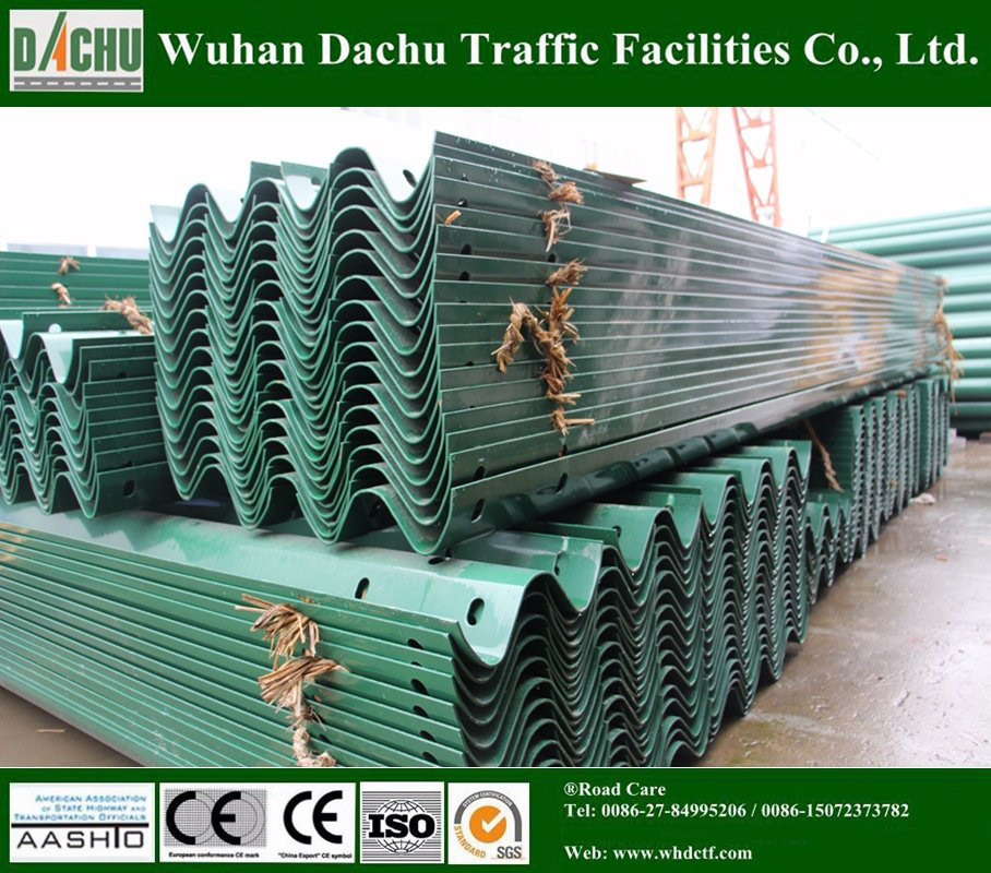 W-Beam Highway Guardrail with Good Quality