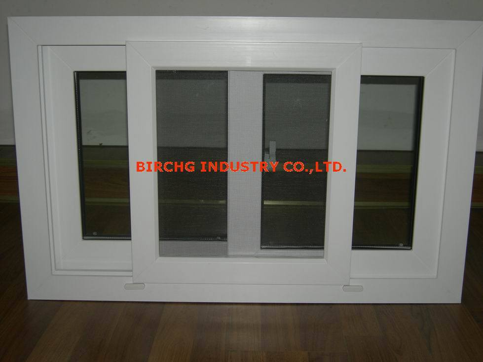 China pvc sliding window plastic sliding window with fly for Window plastic