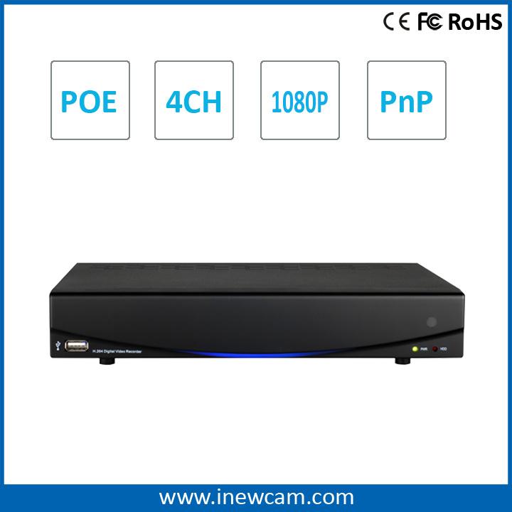 1080P 4CH Onvif P2p Poe Network DVR