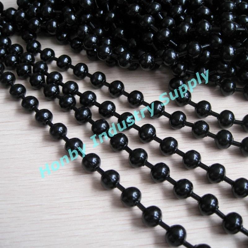 china stunning 10mm black color hollow balls linked metal