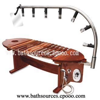 China wooden vichy shower table bsw d china vichy for A and m salon equipment