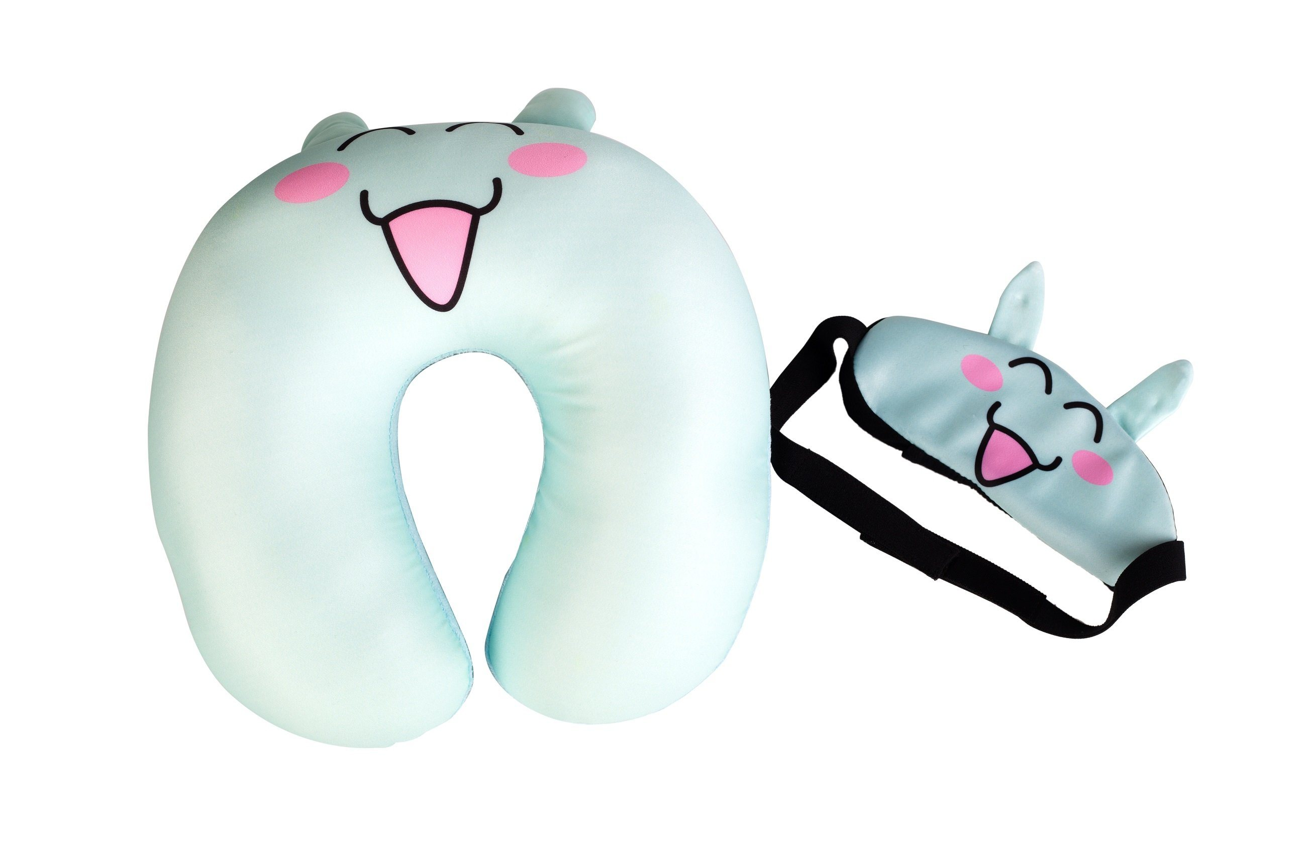 Microbeads Travel Pillow with Mask
