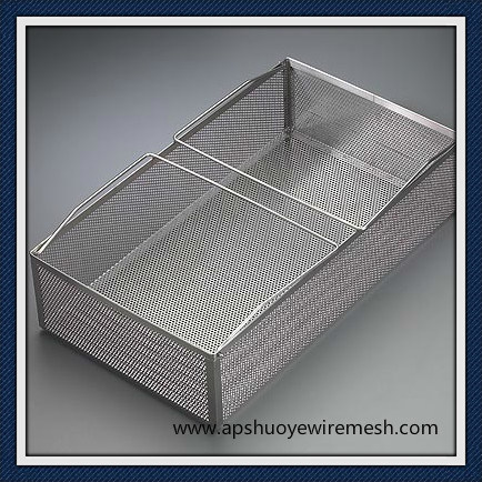 Plastic Coated Stainless Steel Wire Basket for Shopping