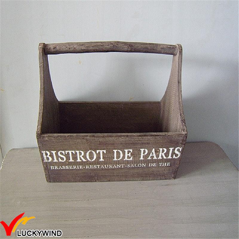 Antique Wooden Storage Fruit Basket