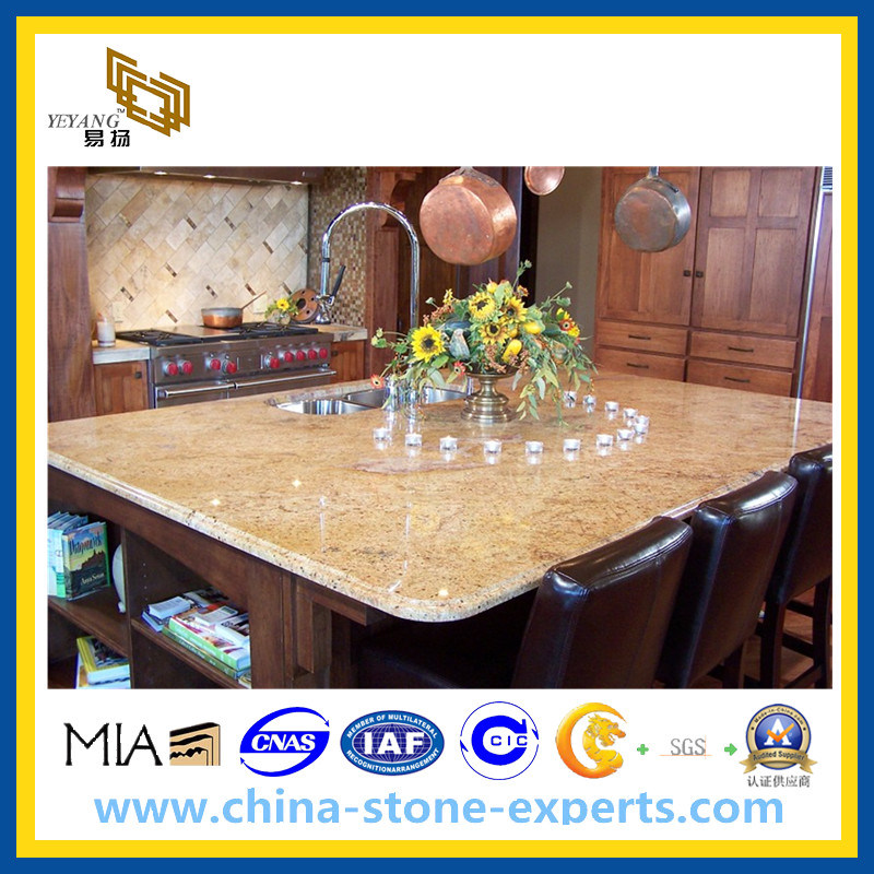 Natural Polished Kitchen Granite Countertop for Home and Hotel