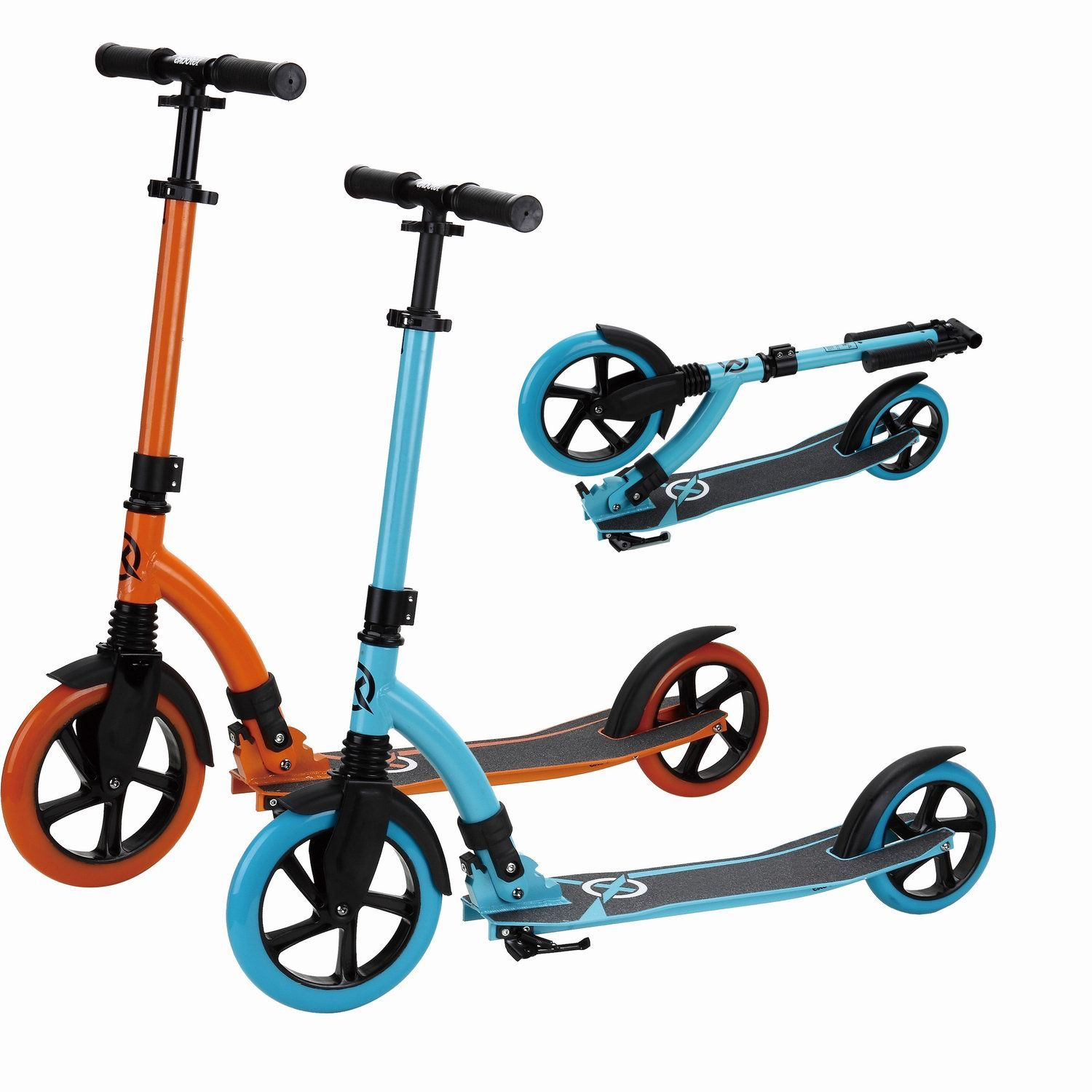 Scooter with Front 230mm Wheel and Rear 180mm Wheel