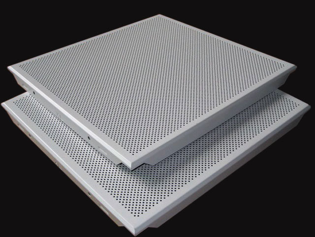 Perforated Aluminum Acoustic False Ceiling Tiles - China Perforated Aluminum Acoustic False Ceiling Tiles - China