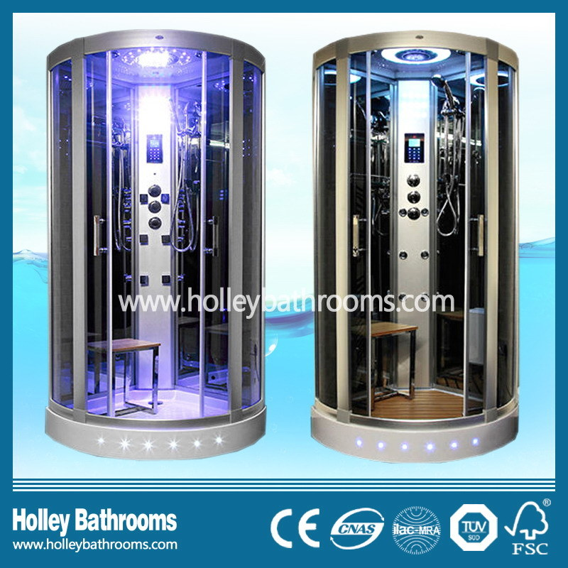 Excellent Tempered Clear Door Glass Shower Cabin with Seat (SR117N)