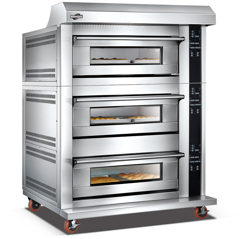 Electric Three Deck Oven with Spray (306DHAF)