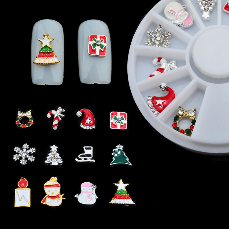 Christmas Metal 3D Nail Decoration for DIY