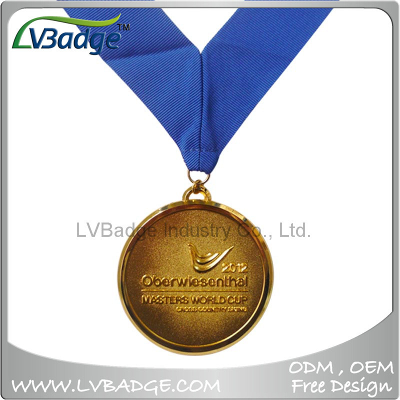 High Quality Sports Gold Medal with Lanyard