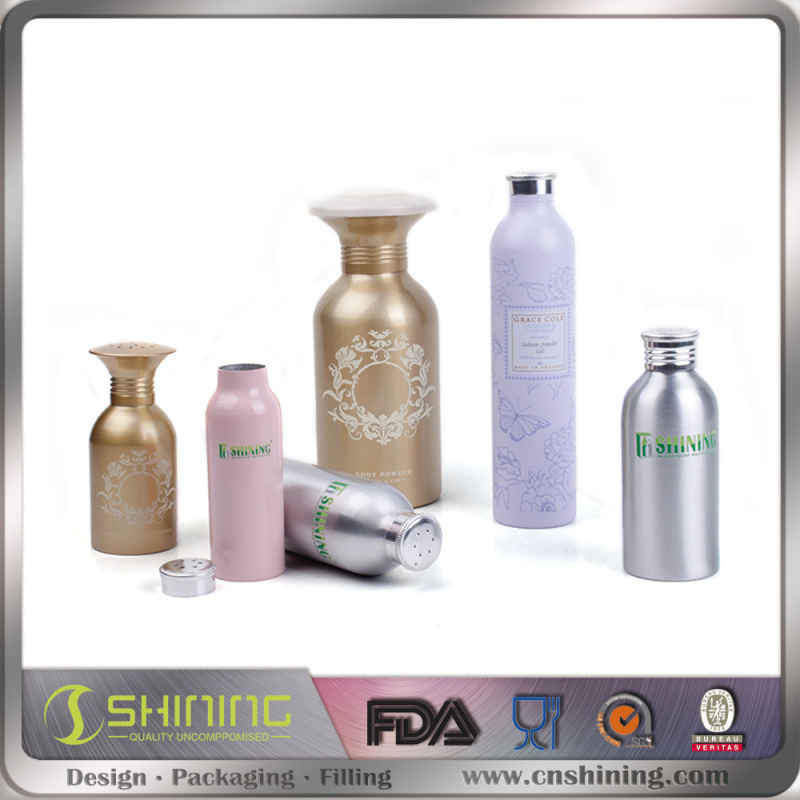 Aluminum Powder Bottle with Pinting