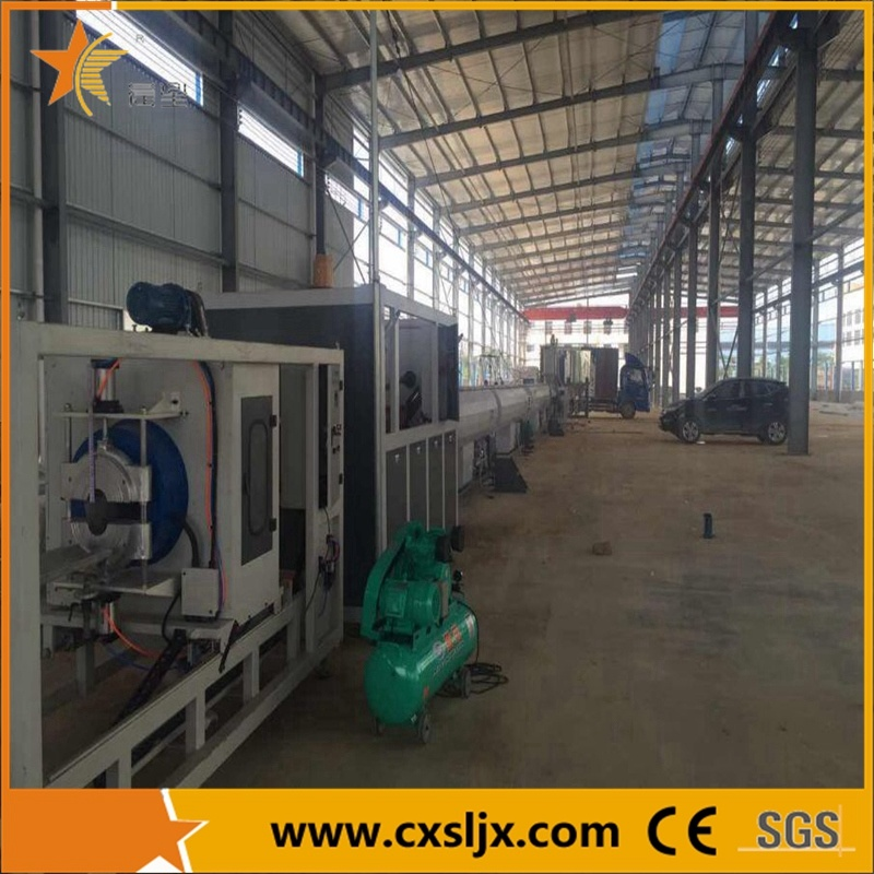 High Speed Single Extruder HDPE Pipe Extrusion Line