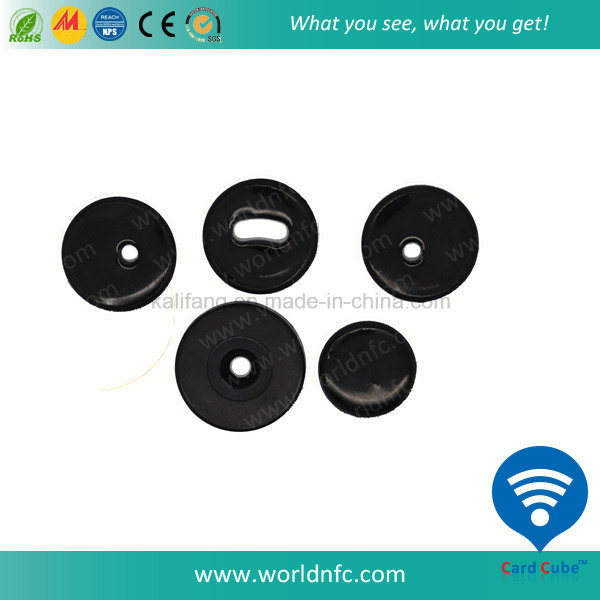 Custom ISO 14443A FM08 1k Washable Hf RFID PPS Laundry Tag