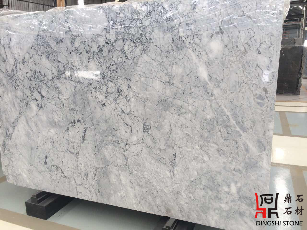 Domestic Prague Grey Marble Slabs for Chinese White Carrara Wall Tiles/Countertops