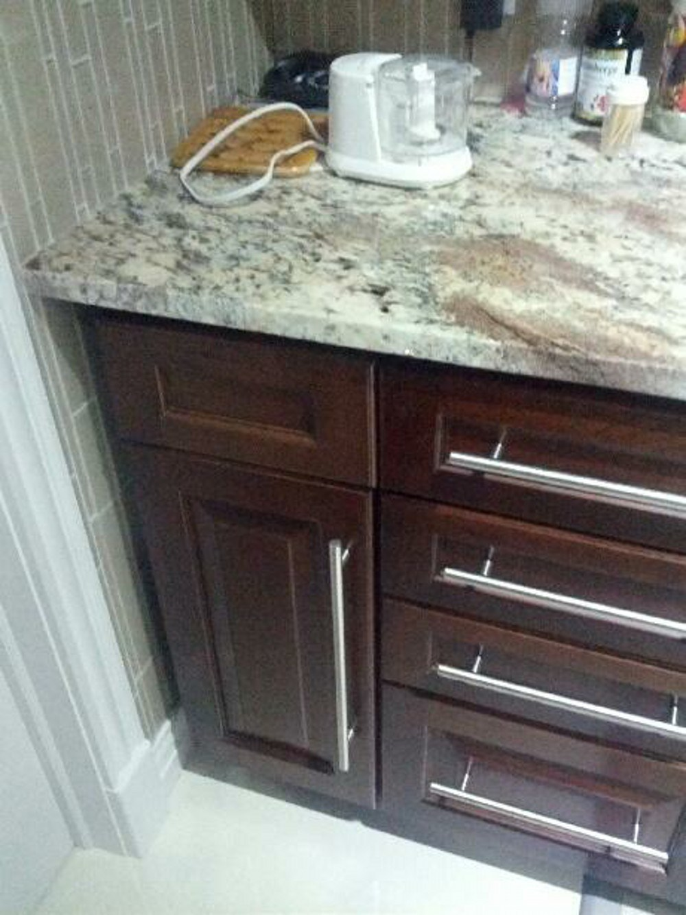 Lacquer Shake Door Style Vanity Cabinets