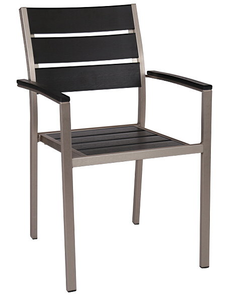 Wholesales Supplies Outdoor Plastic Plywood Dining Chair (DC-15501)