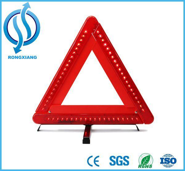LED Warning Triangle, Reflective Safety LED Triangle, Flashing Light Warning Triangle